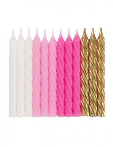 24 candeline di compleanno rosa bianche e oro