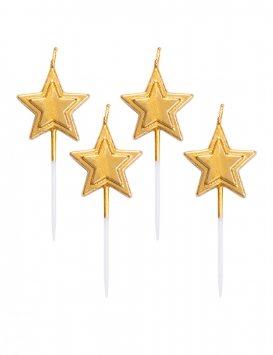 5 candeline stella dorata metallizzata