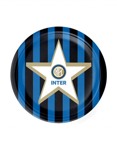 8 piattini di cartone Inter™ 18 cm