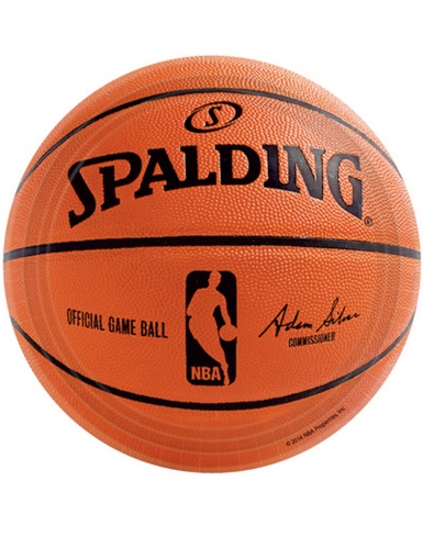 18 piattini in cartone NBA Spalding™ 18 cm