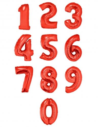 Palloncino alluminio rosso numero 1 metro-1