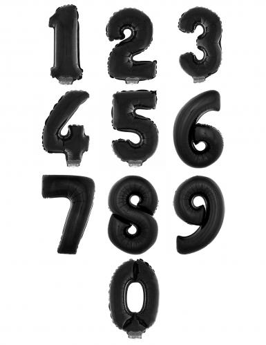 Palloncino alluminio nero numero 1 metro-1