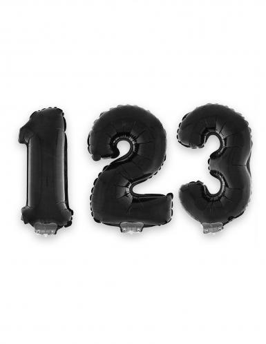 Palloncino alluminio nero numero 40 cm