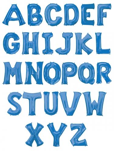Palloncino alluminio blu lettera 81 cm-1