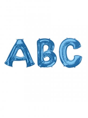 Palloncino alluminio blu lettera 81 cm