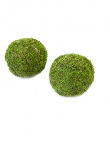 2 sfere decorative in mousse verde