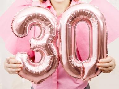 Palloncino alluminio numero color oro rosa-2