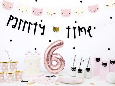 6 Candeline di compleanno gattini rosa e bianchi-2