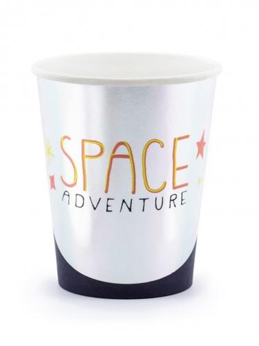 6 bicchieri in cartone avventura nello spazio