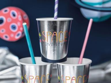 6 bicchieri in cartone avventura nello spazio-1