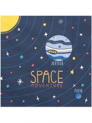 20 tovaglioli di carta avventura nello spazio
