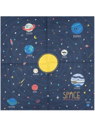 20 tovaglioli di carta avventura nello spazio-1
