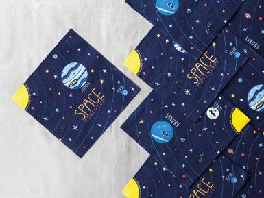 20 tovaglioli di carta avventura nello spazio-2