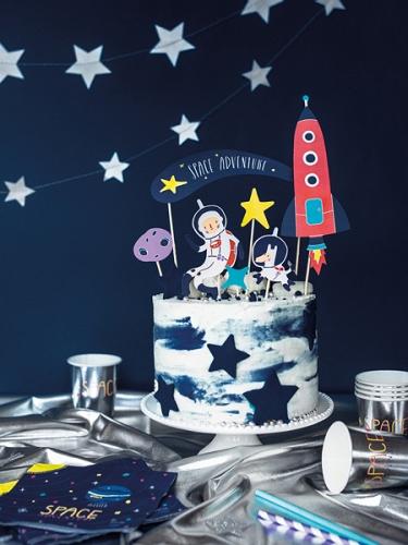 7 decorazioni oer torta avventura nello spazio-1
