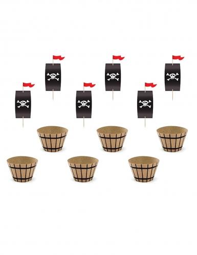 Kit decorazioni per cupcakes tema pirati