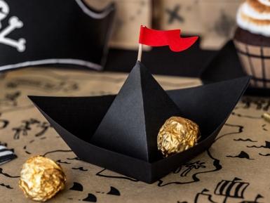 6 navi pirata in cartone nere-1
