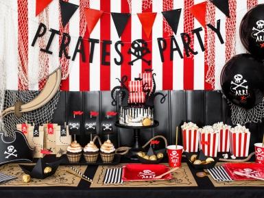 6 navi pirata in cartone nere-2
