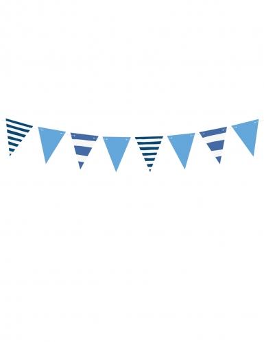 Ghirlanda di bandierine a righe blu e celesti