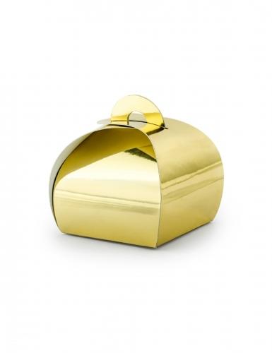 10 scatole in cartone color oro metallizzato