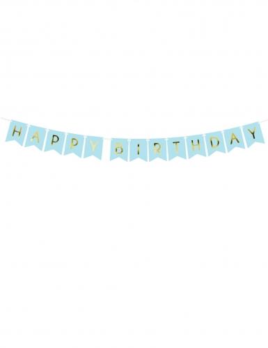 Ghirlanda celeste Happy Birthday oro