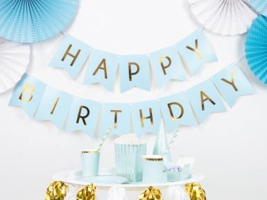 Ghirlanda celeste Happy Birthday oro-1