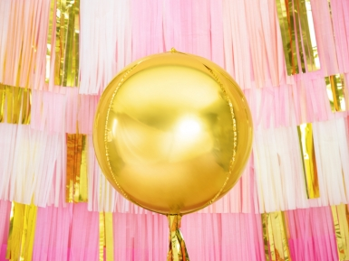 Palloncino alluminio rotondo oro metallizzato-1
