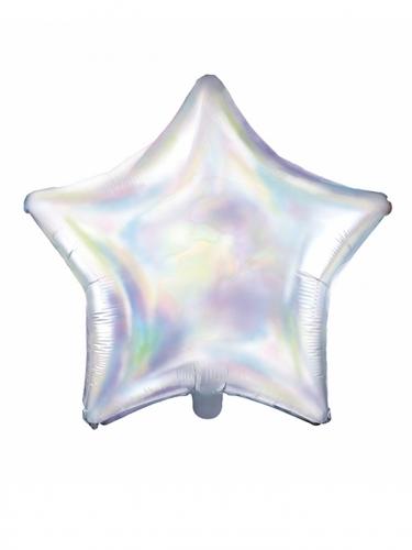 Palloncino in alluminio stella iridescente