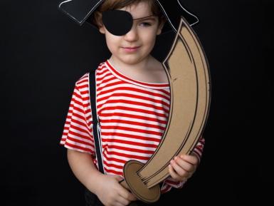 Spada da pirata in cartone bambino Fai da te-1