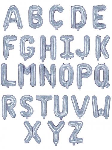 Palloncino alluminio lettera iridescente 35 cm-1