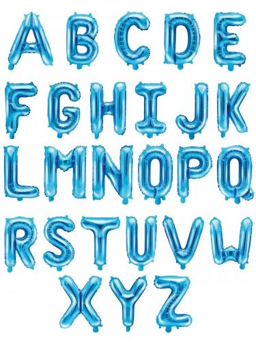 Palloncino alluminio lettera turchese 35 cm-1