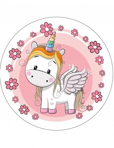 Disco in ostia con unicorno - modello casuale