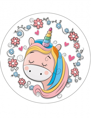 Disco in ostia con unicorno - modello casuale-3