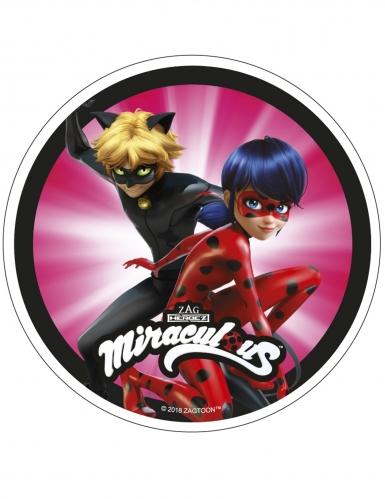 Disco di ostia Ladybug Miraculous™ 21 cm casuale-1