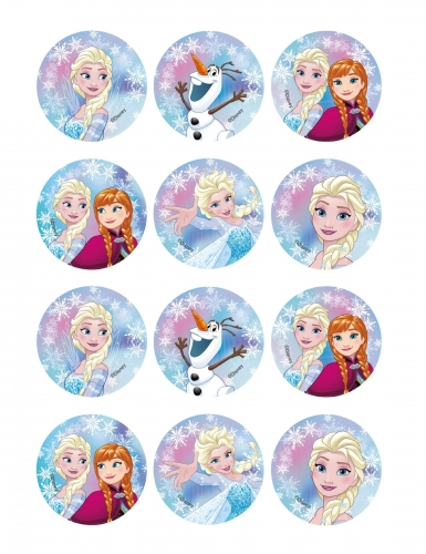 12 decorazioni per biscotti Frozen™
