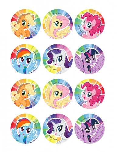 12 decorazioni per biscotti My Little Pony™