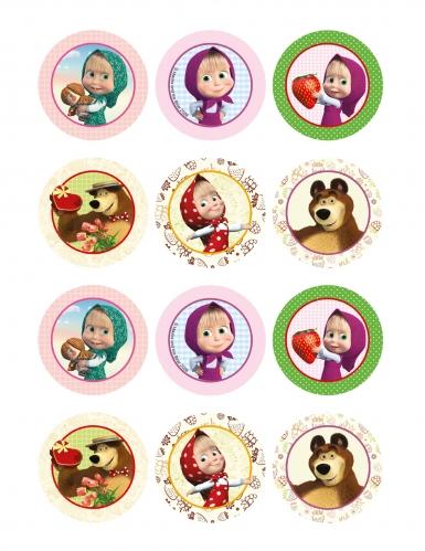 12 decorazioni per biscotti Masha e Orso™