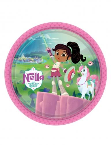 8 piatti in cartone Nella principessa coraggiosa™ 23 cm