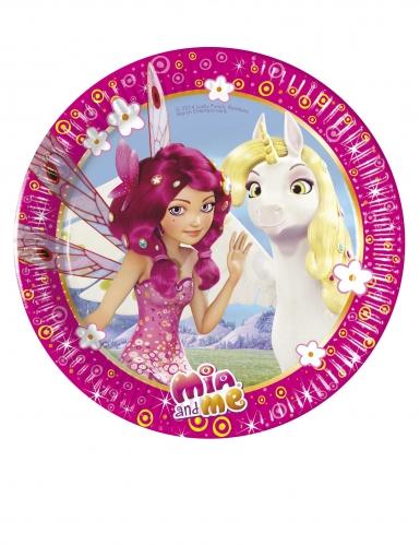 8 piattini in cartone Mia and Me™ 20 cm