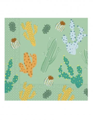 20 tovaglioli in carta tema cactus