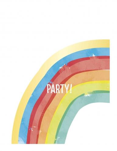 6 sacchetti per festa rainbow party