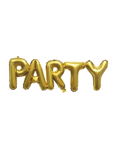 Palloncino in alluminio dorato Party