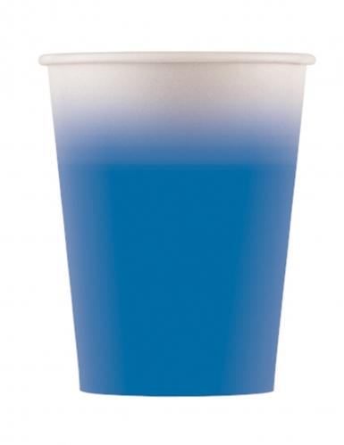 8 bicchieri in cartone sfumati blu