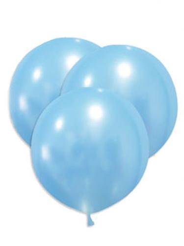 5 palloncini giganti in lattice celesti