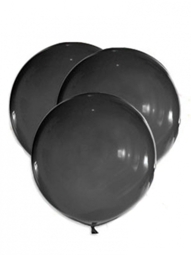 5 palloncini giganti in lattice neri