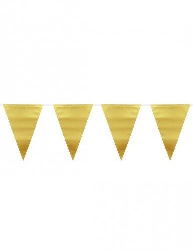 Ghirlanda con bandierine oro metallizzato