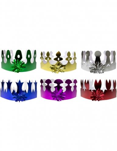 6 coroncine olografiche colorate