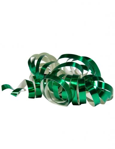 2 Rotoli di stelle filanti verde metallizzato 4m