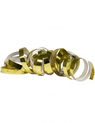 2 Rotoli di stelle filanti oro metallizzato 4m