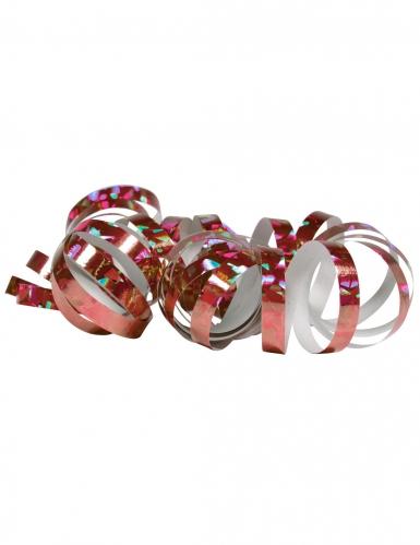 2 Rotoli di stelle filanti rosa olografico 4m