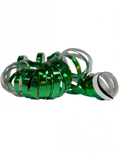 2 Rotoli di stelle filanti verde olografico 4m